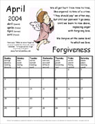 TerraCuddles Calendar - April 2004 - Forgiveness