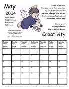TerraCuddles Calender - May 2004 - Creativity