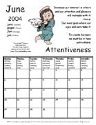 TerraCuddles Calendar - June 2004 - Attentiveness